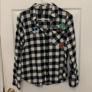 Flannel checkered shirt